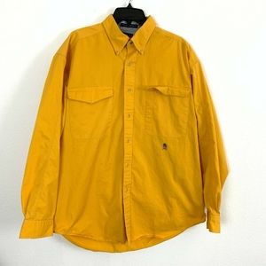 Tommy Hilfiger Yellow Button Down Shirt Large Mens